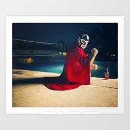 mexican luchador Kunstdrucke
