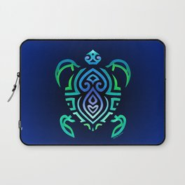 Tribal Turtle Ombre Background Laptop Sleeve