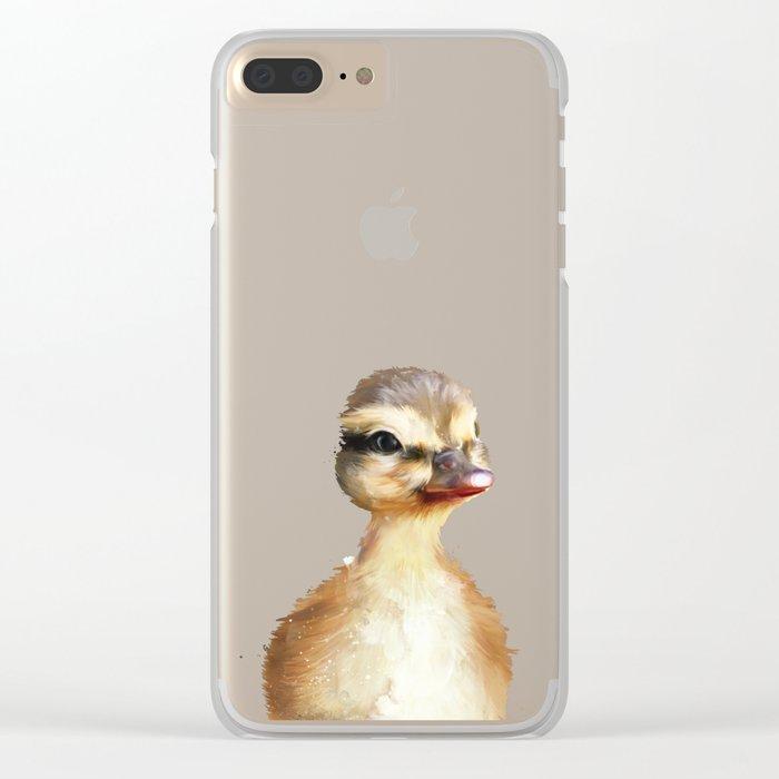 Little Duck Clear iPhone Case