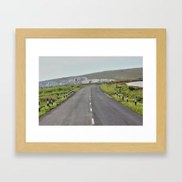 Road to the Hills Framed Art Print