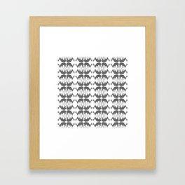 Oh, deer! in white and grey Framed Art Print