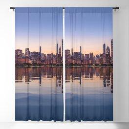 Panorama of Chicago at Sunset Blackout Curtain