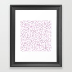 Cherry Blossom Pink Outline - In Memory of Mackenzie Framed Art Print