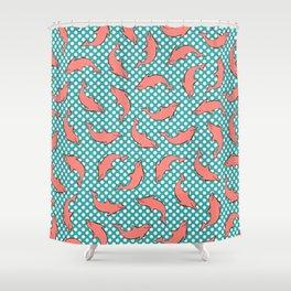 dolphin pattern Shower Curtain
