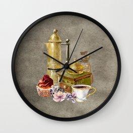 Coffee Fixings Wall Clock