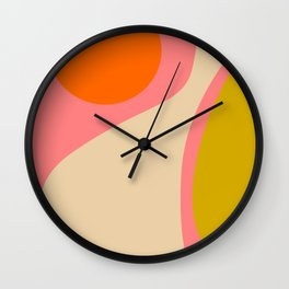 abstract composition modern blush pink Wall Clock
