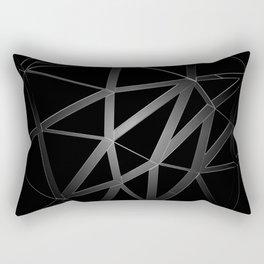 BW Geo Lines Rectangular Pillow