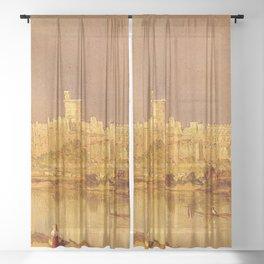 Sanford Robinson Gifford - Study of Windsor Castle Sheer Curtain