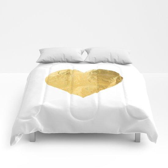 heart of gold Comforters