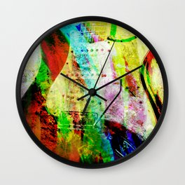Abstract Electric Guitar Wall Clock