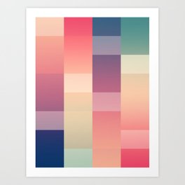 Abstract Sunset #society6 #decor #buyart Art Print
