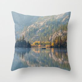 Morning at Silver Lake Throw Pillow