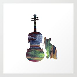 Viola Cat Art Art Print