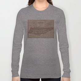 Vintage Map of Tennessee (1859) Long Sleeve T-shirt