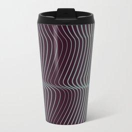 OpArt WaveLines 1 Travel Mug