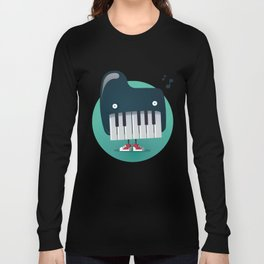 Piano Monster Long Sleeve T-shirt