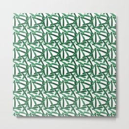 Green Razor Pattern Metal Print