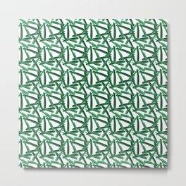 Green Razor Pattern Metal Print