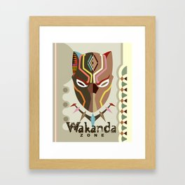 Wakanda Zone Framed Art Print