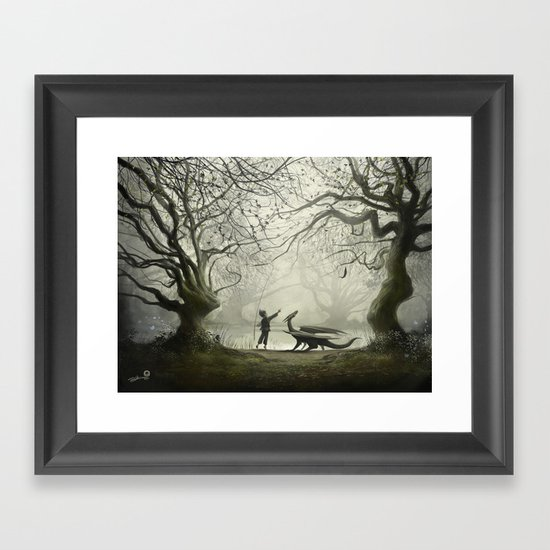 The Boy And His Dragon Framed Art Print