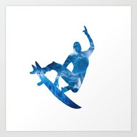 surf Art Prints featuring Surf by Sébastien BOUVIER