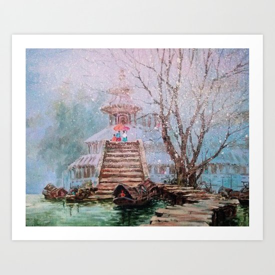 Spring in China Art Print