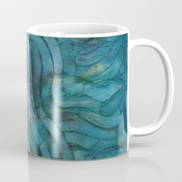 'Careful Where You Stand, In Aquamarin' Coffee Mug