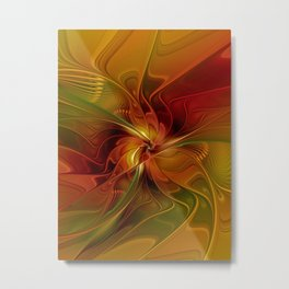 Warmth, Abstract Fractal Art Metal Print