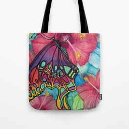 Wings And Flora Tote Bag