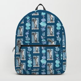 The Hermit - A floral tarot print Backpack