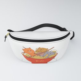 Ramen and cats Fanny Pack