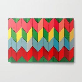 Modern art - Rainbow Fold #Terrazzo #Blobs Metal Print