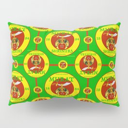Murat Shriners, 1884, Yellow & Red Pillow Sham