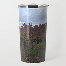 Vineyard in Autumn Travel Mug