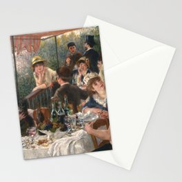 Luncheon of the Boating Party Painting, Pierre-Auguste Renoir Stationery Cards