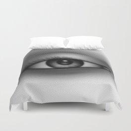 Halftone Eye Duvet Cover