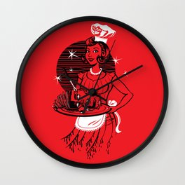 You're Being Served... for dinner Wall Clock