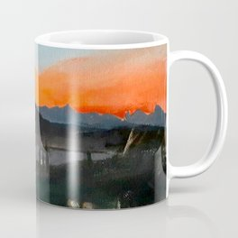 Sunset Over the Superstitions Coffee Mug