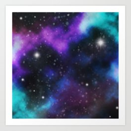 Galaxy Purple and Blue  Art Print