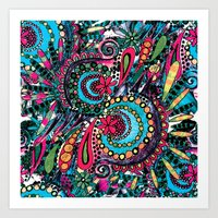 paisley Art Prints featuring Paisley by Lara Gurney