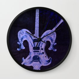 """Fleur Guitar"" Wall Clock"
