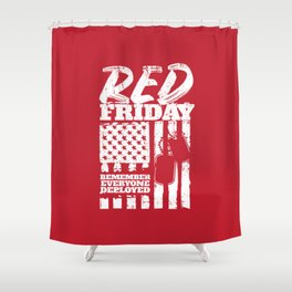 Red Friday American Military Shower Curtain