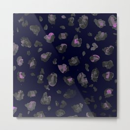 Pink and Black Leopard Metal Print