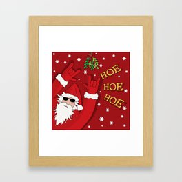 Bad Santa Framed Art Print