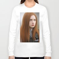 amy pond Long Sleeve T-shirts featuring AMY POND  by Kayla Theodorou