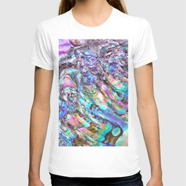 Shimmery Rainbow Abalone Mother of Pearl T-shirt