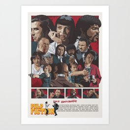 Quentin Tarantino's Pulp Fiction Fan Poster Art Print