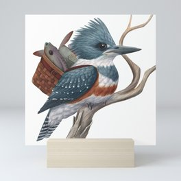 Kingfisher with Lunch Mini Art Print