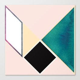 Tangram Square Five Canvas Print