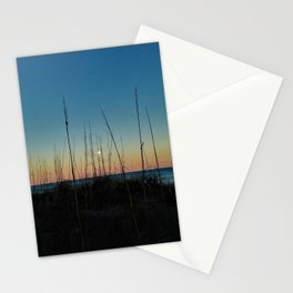 Full Moon Rise at Sunset Stationery Cards